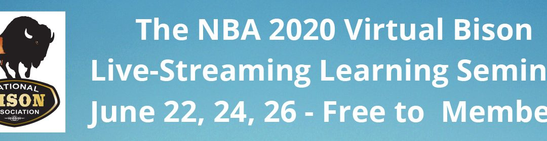Virtual Bison Learning Webinar replaces NBA Summer Conference